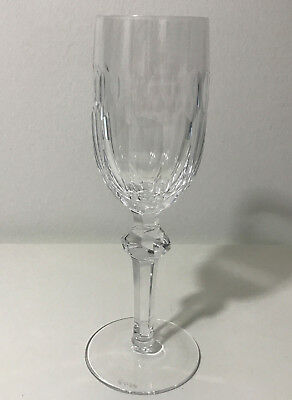 """Waterford Curraghmore Crystal Champagne Flute Fluted Glass 8-1/8"""" Mint"""