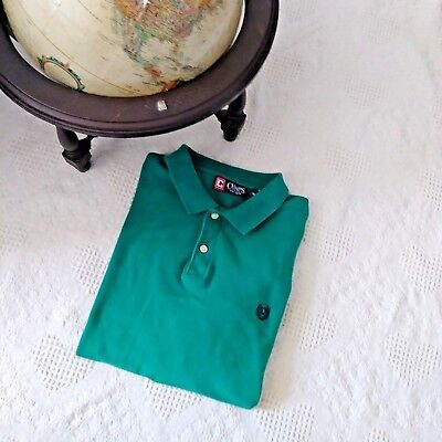 Men's Chaps size XL Green Polo Style Short Sleeve Shirt