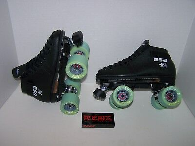 New Riedell 122 Custom Leather Roller Skates Mens Size 7