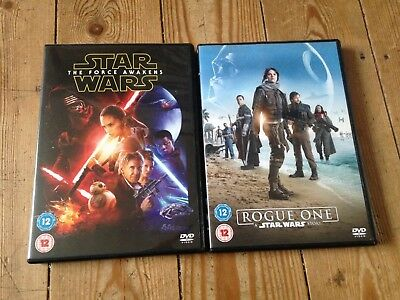 STAR WARS THE FORCE AWAKENS & ROGUE ONE REGION 2 DVDs