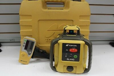 Topcon RL-H4C Self-Leveling Rotary Laser Level  with LS-80L Detector Receiver.