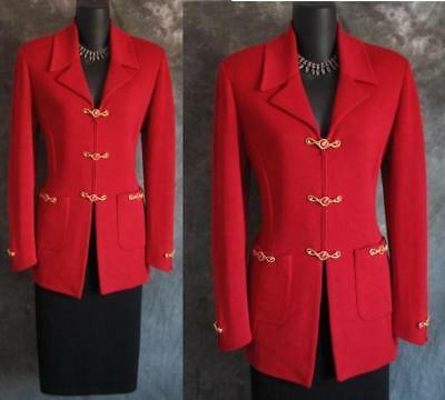 BEAUTIFUL St John collection jacket red Knit suit blazer size 4