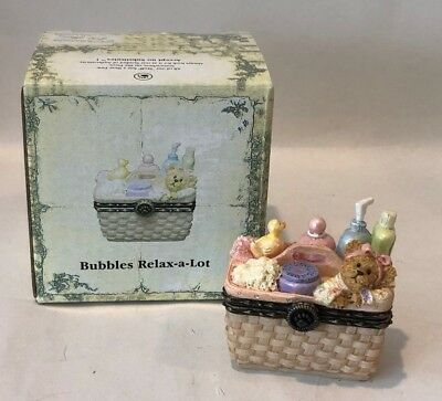 Boyds Bears Uncle Bean's Treasure Box Bubbles Relax-A-Lot