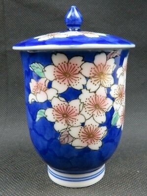 Antique Chinese blue floral hand painted porcelain Ginger pot
