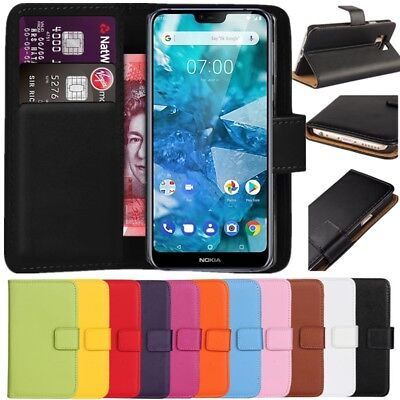 Premium Leather Flip Wallet Case Cover For Nokia 7.1 (2018)