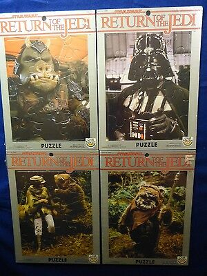 Vintage Star Wars Return of the Jedi CraftMaster Puzzles Lot of 4 Sealed 1983