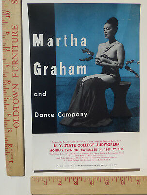 Martha Graham Dance Company Handbill Flyer New York 1949