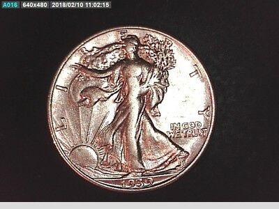 1939 D High Grade Au/ms Silver Walking Half Dollar 50 Cent Coin 4,267,800 Minted