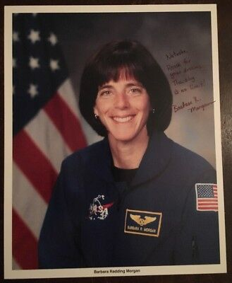 NASA BARBARA RADDING MORGAN SIGNED SPACE SHUTTLE Endeavour STS-118 Astronaut