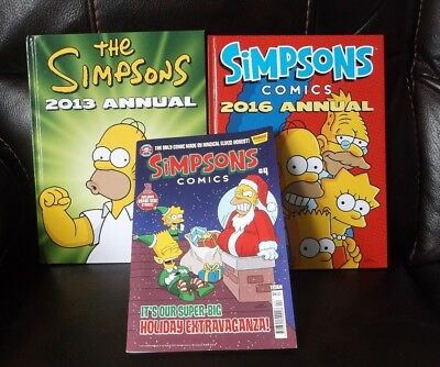 2013 / 2016  THE SIMPSONS  ANNUALS and SIMPSONS COMIC NOV 2017 just added