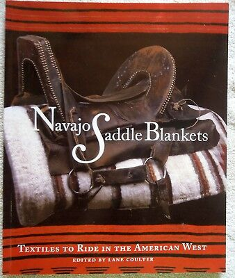 SIGNED Book NAVAJO SADDLE BLANKETS Lane Coulter 1st Edition ***ILLUSTRATIONS***