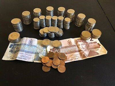 $100 of Canadian Coins and Currency - Mostly Coin