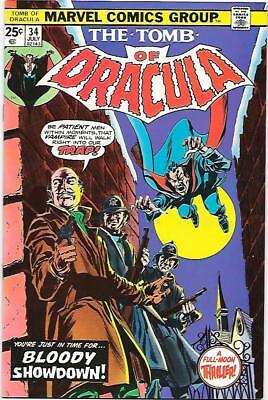 Tomb of Dracula #34, Marvel 1975 Wolfman story, Colan/Palmer art NM