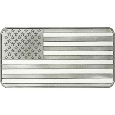 American Flag 1oz .999 Fine Silver Bar by SilverTowne *Still in Seal*
