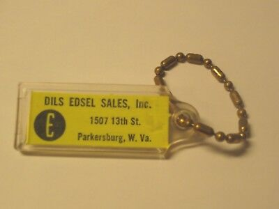 Vintage Edsel Automobile Keychain  Advertising, Dils Parkersburg W. Va. !!!