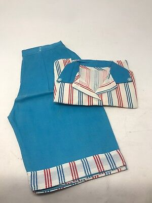 Vintage 1940s Girls Boys 2 Piece Striped Outfit Sleeveless Shirt & Pants NOS