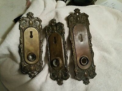 Vintage Lot Of Brass Door Knobs And Locked Units