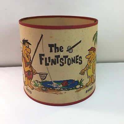 Vintage 1960 Hanna-Barbera The Flintstones Lamp Shade Fred Barney Baby Puss