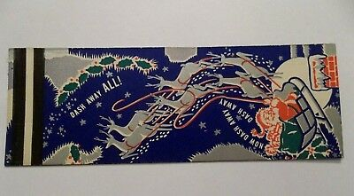 Vintage Christmas advertising matchbook cover Hallbourgs Westfield MA Xmas