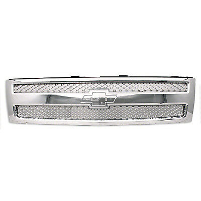 2007 2008 2009 2010 2011 2012 2013 Chev Silverado 1500 Chrome Grille GM1200655