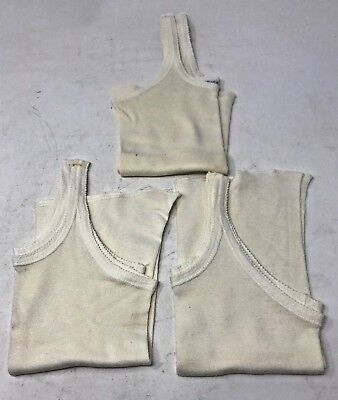 Lot of 3 Vintage1950s White Cotton Carter's Undershirt Tank Size 4