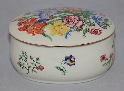 "Lenox The Flower Blossom Music Box Porcelain Art of Suzanne Clee 4"" x 3"" x 2"""