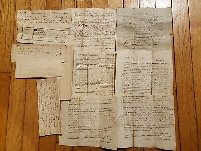 Lot Of Early 19th Century Vermont Attachment Sheriff Legal Documents VT Antique