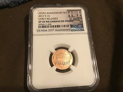 2017-S Enhanced Lincoln Cent NGC SP69RD  Early Release