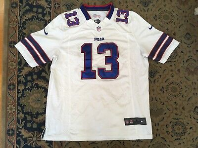 STEVIE JOHNSON BUFFALO BILLS NFL APPROVED JERSEY by NIKE Adult Size LARGE