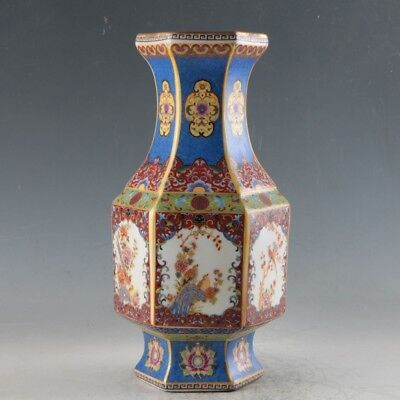 Chinese Enamel Porcelain Hand Painted Vase Made During The Qianlong Period FLC09