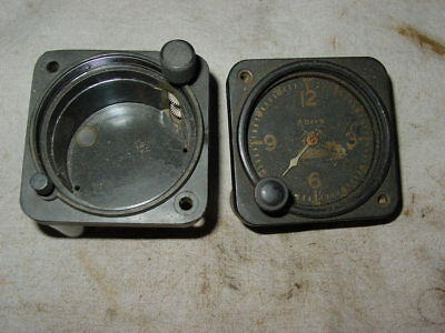 WW2 US USAAF Waltham 8 Day Cockpit Clock Lot Parts Trench Art
