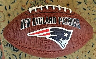 Terrific Full Size NEW ENGLAND PATRIOTS NFL FOOTBALL in NEW CONDITION