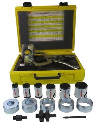 NFP FP-200 Pilot Clamp Complete Set Locking Hole Saw Guide With Case