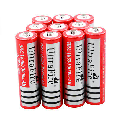 Ultrafire 18650 3.7V 3000mAh Li-ion Battery Rechargeable Batteries for LED Torch