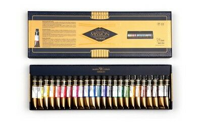Mijello Mission Gold Class MWC-7024 Watercolor 7ml 24color Set Painting