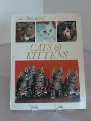Vintage 1973 Color Treasury Of Cats And Kittens Crescant Books