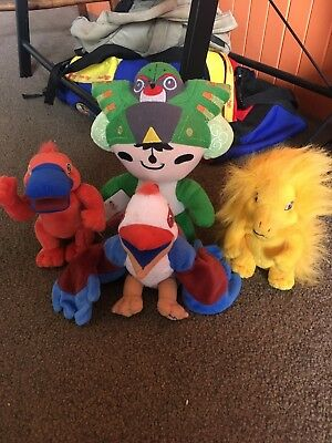 4 Olympic Mascot Collectable Plush Soft Toys Sydney 2000 & Beijing 2008