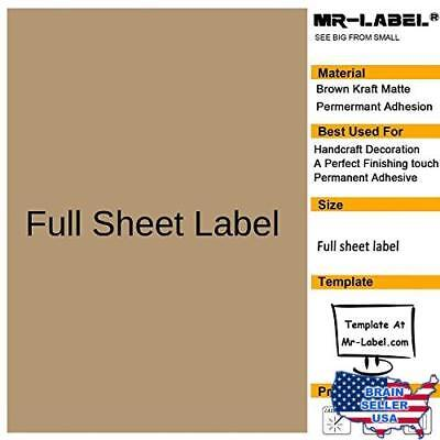 MR-LABEL EXTRA LARGE Clear Full-Sheet Strong Adhesive Labels