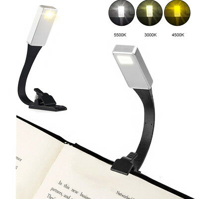 Mini Night Light Clip on Book Reading LED Table Lamp USB Charge Portable Travel