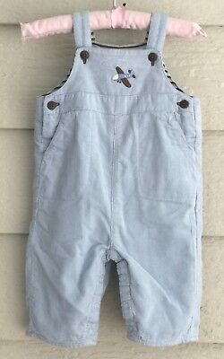 JANIE AND JACK LAYETTE 0 - 3 mos boys blue pinwale corduroy overalls - V