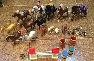 Vintage Empire Toy Horse LOT (10) + Extras Great Condition