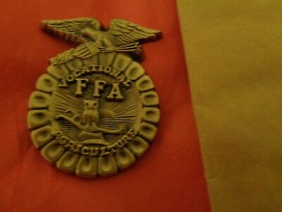 F.f.a. Vocational Agriculture Brass Badge Emblem Future Farmers Of America