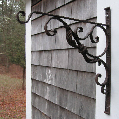 Antique Wrought Iron Bracket for Hanging a Sign (Advertisement) or Plant