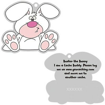 Buster the Bunny Cache Buddy - Trackable for Geocaching