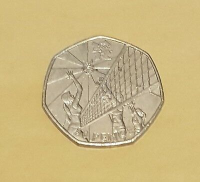 2011 50P Fifty Pence Coin London Summer Olympic 2012 Volleyball Circulated