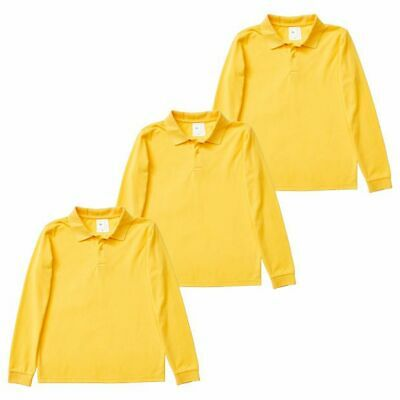 NEW 3 Pack Long Sleeve School Polo Tops
