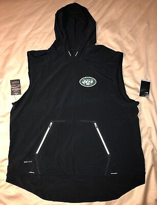 76e061cbf New York Jets Nike Sideline Fly Rush Pullover Hoodie Vest Small, L, XL,