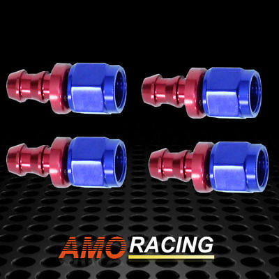 AN6 Straight Push On Lock Oil Fuel Line Hose End Fitting Adaptor 6-AN -6AN 4PCs