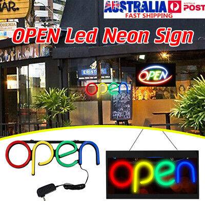 OPEN LED Neon Sign Tube Light Handmade Visual Artwork Bar Pub Club Wall Decor 1