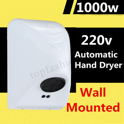1000W Powerful Wall Mounted Automatic Hand Dryer Commercial Grade Washroom